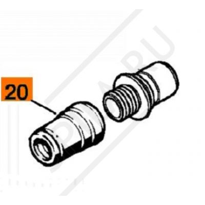 Переходник шланга верхний SE 122Е